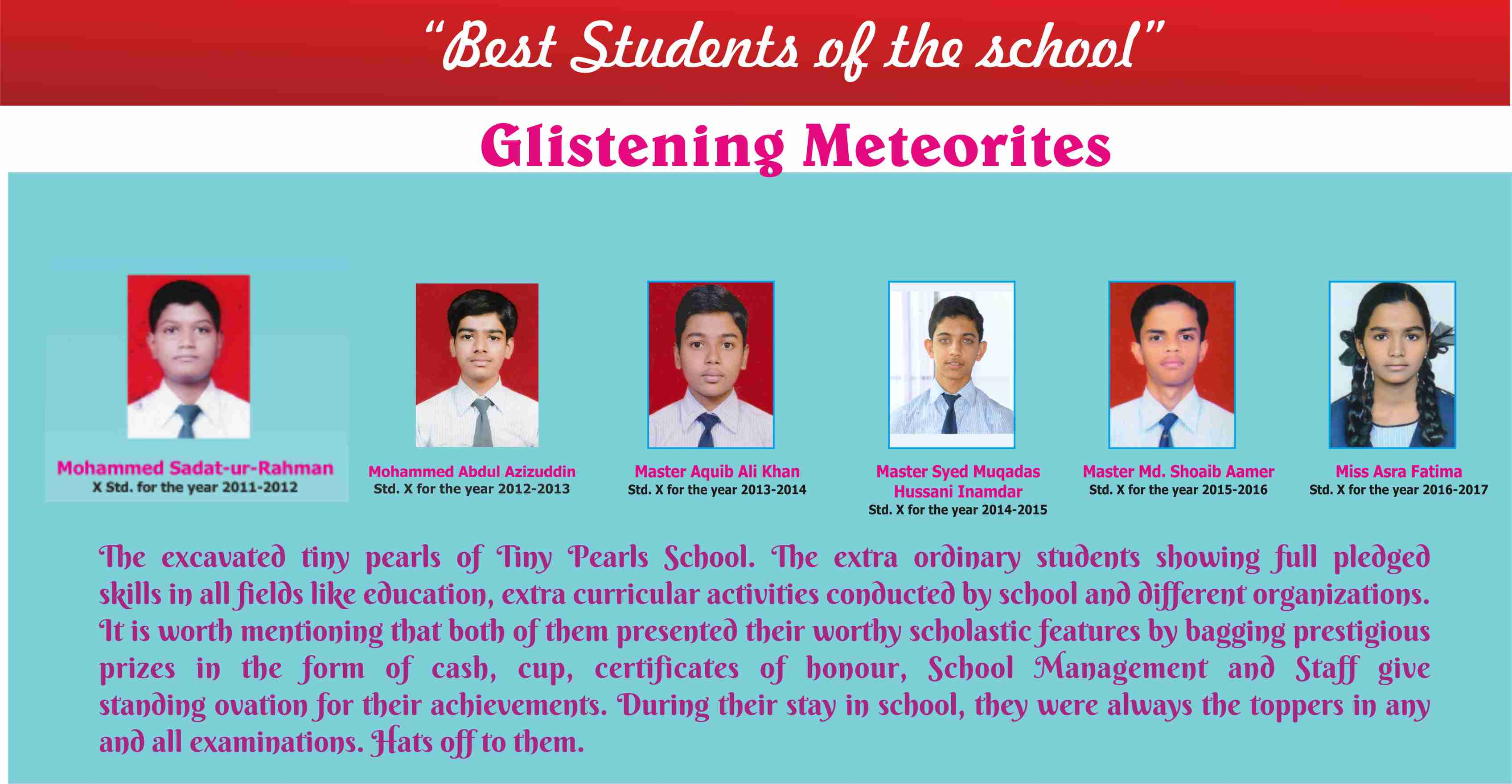 Best Students of the school